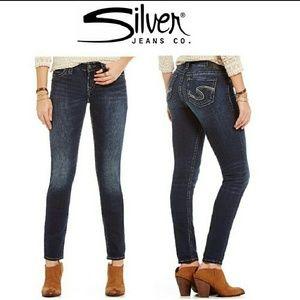 Silver Jeans SUKI Super Skinny Sz 25 dark wash